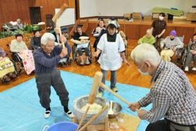 新春もちつき大会開催!!|長岡三古老人福祉会