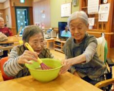 バレンタインチョコ作り|長岡三古老人福祉会