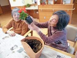 花の苗植え|長岡三古老人福祉会
