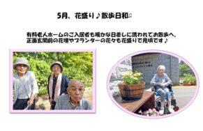 花盛り♪散歩日和♫|長岡三古老人福祉会
