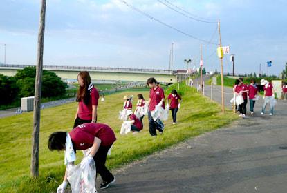 事業・特色「長岡まつり清掃ボランティア」|長岡三古老人福祉会