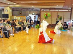 大荒戸町 神楽舞の披露|長岡三古老人福祉会