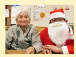 今年のクリスマス 長岡三古老人福祉会
