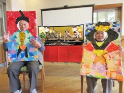 楽しいひな祭り、二人ともとってもお似合い!|長岡三古老人福祉会