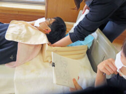 ホームヘルプステーション「洗髪研修」 長岡三古老人福祉会